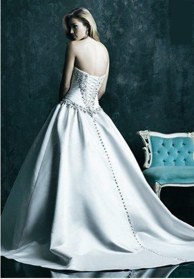 Satin Sweetheart Lace-up Back Wedding Dress Bridal Gown (Dream-100032)