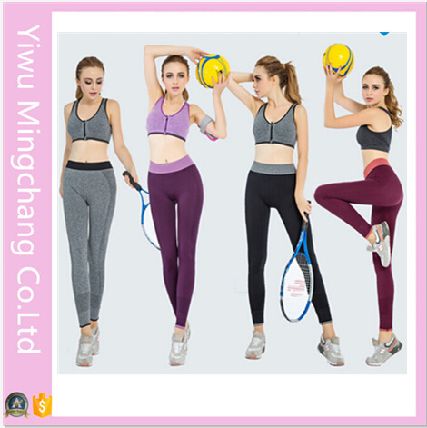 2016 Hot Sale Cheap Women Capri Yoga Sport Pants (14241-1)