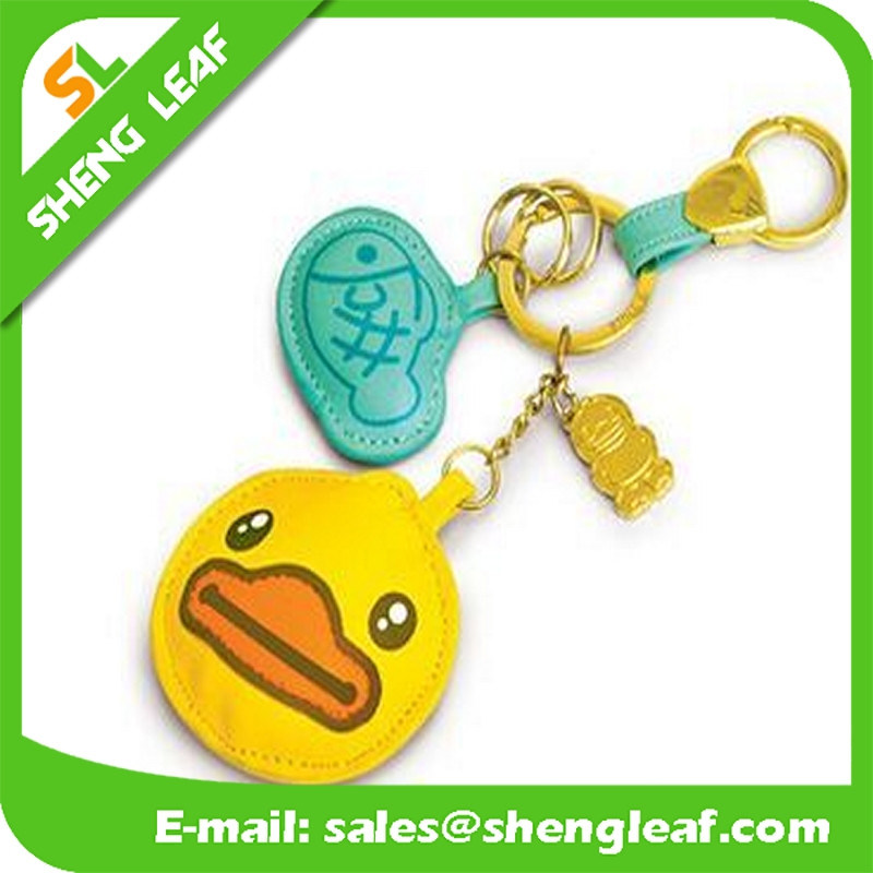 Leather Custom Cartoon Logo for Promotion Gifts (SLF-LK001)