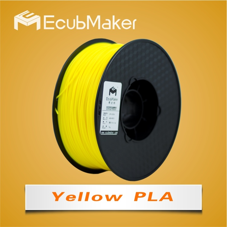 1.75mm PLA Filament for 3D Printer Yello Color