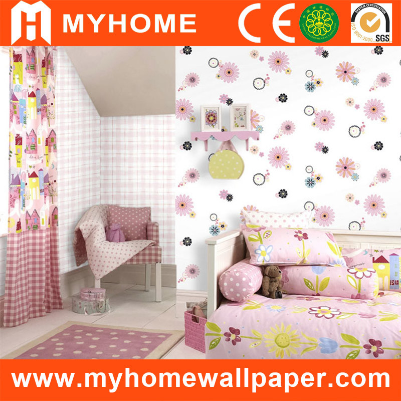 Floral Design Kids Room Decor Paper Wallpaper
