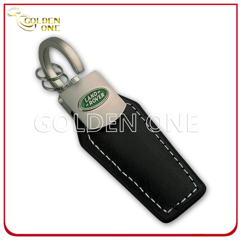 Personalized Genuine Leather Key Chain with Engrave Logo