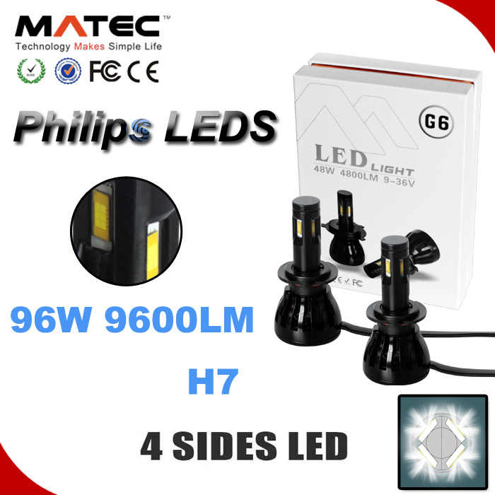 Top Phillips LED H7 H11 9005 Auto Car LED Headlamp