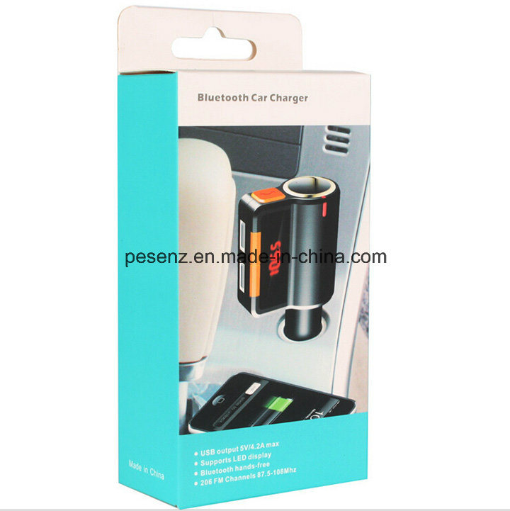 Bc09 Bluetooth Handsfree Car Kit with Cigarette Lighter Two USB Port