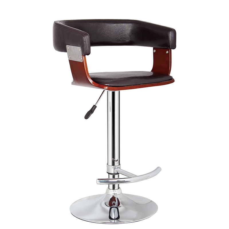 Restaurant Dining Coffee Furniture Swivel Wooden Bar Stools Chair (FS-WB953)