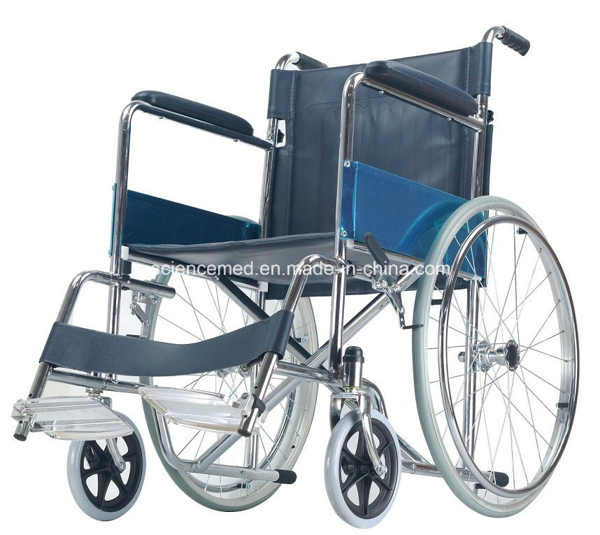 Steel Manual Foldable Fast Knoked Down Wheelchair (SC809KD) New