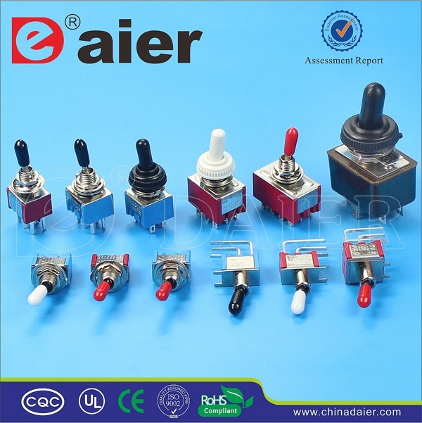 CE, TUV 3pin Single Pole on-off-on Electric Toggle Switch