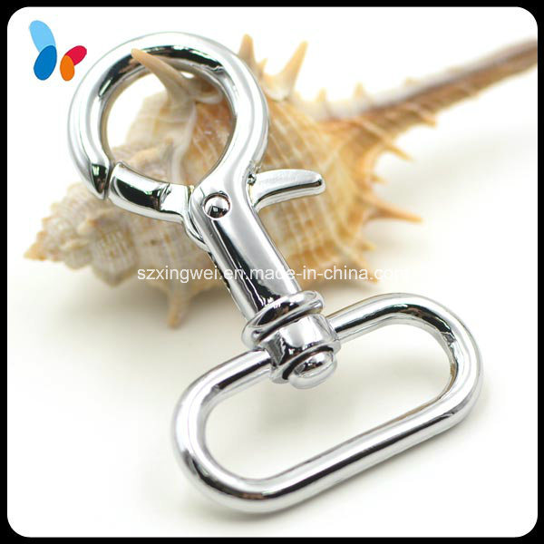 Shinny Silver Finish Metal Zinc Alloy Snap Hook for Bags