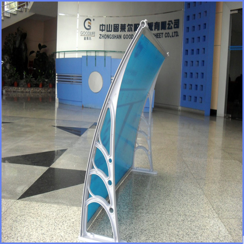 Euro-Design DIY 120X70/190X98.5/270X98.5 Durable Plastic Polycarbonate PC Awning for Door