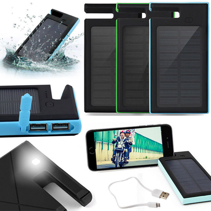 Multifunctional Lithium Battery Solar Power Bank Charger for Mobile Phone
