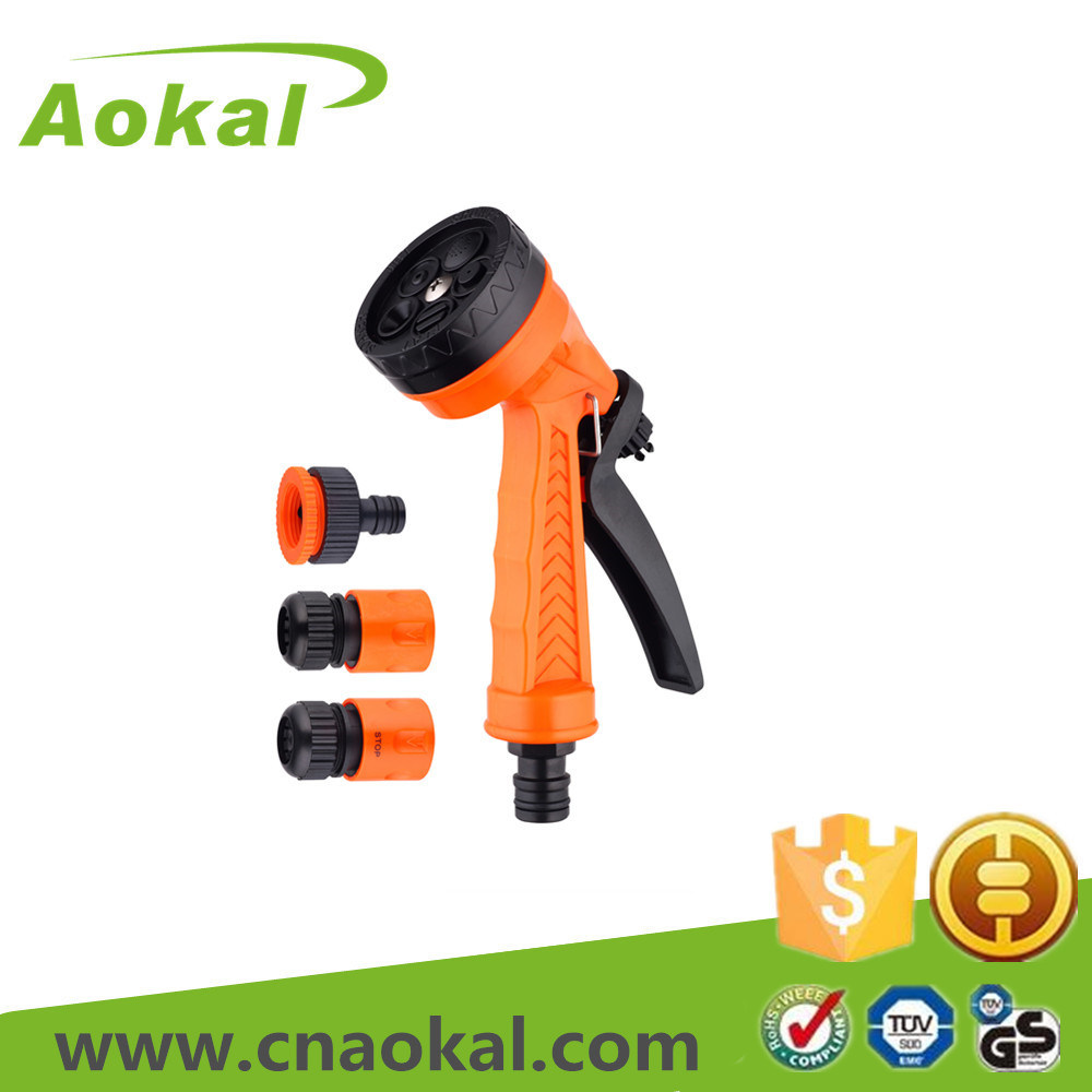 "Spray Gun Kit 1/2"" 4PCS Hose Repair Adjustable Spray Gun"