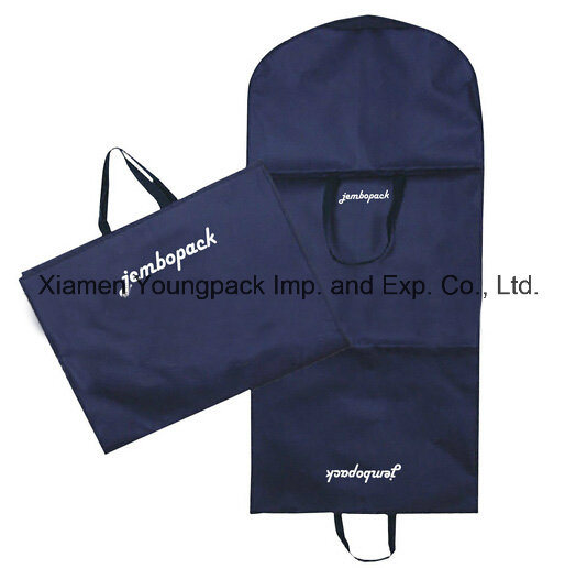 Personalized Custom Printed Black Non-Woven Travel Suit Garment Cover