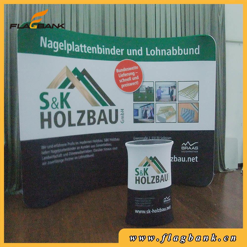 10FT Straight Indoor Fabric Waveline Banner Exhibition Display Stand