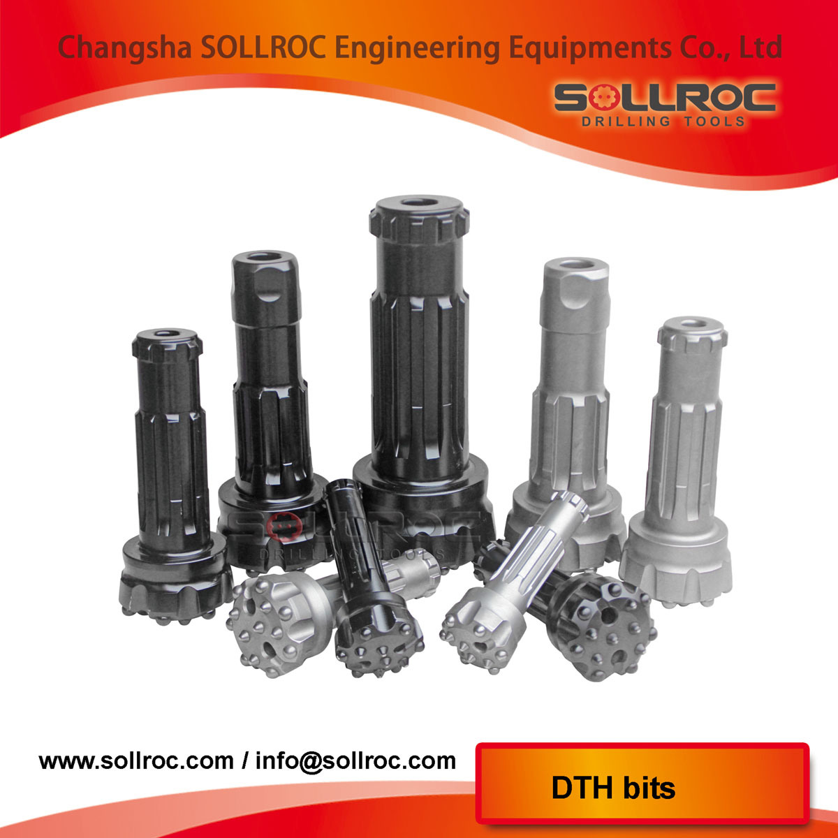 Ql80 Down The Hole DTH Hammer Bits for Drilling