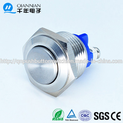 Qn16-A3 16mm Momentary Elevated Head Screw Pin Terminal Waterproof Metal Push Button Switch