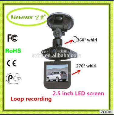FHD Dashcam 6 LED Light Car DVR