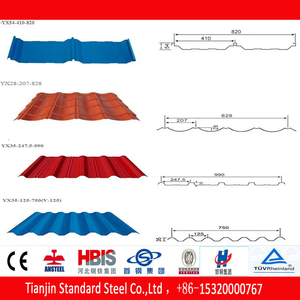 Hot Dipped Cold Rolled Galvanized Steel Gp Roofing Sheet