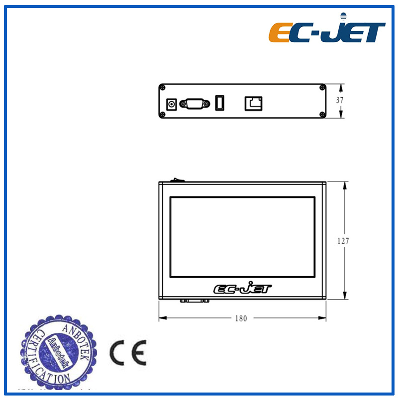 Low Cost High Resolution Tij 2.5 Inkjet Printer for Carton Box
