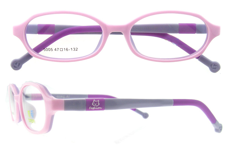 Silica Gel Soft Kid Eyeglasses Multicolored Children Optical Frame