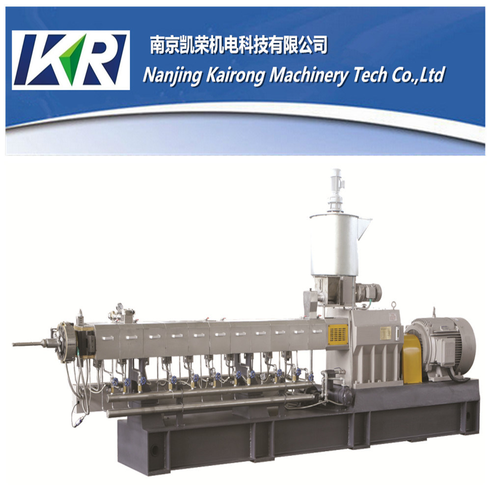 Nanjing Plastic Pellet Parallel Twin Screw Extruder Making Machine