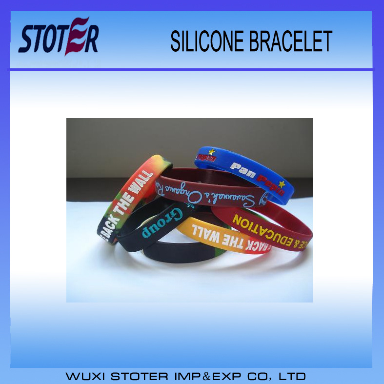 Hot Sale Promotional Customized Logo Funny Silicone Wristband