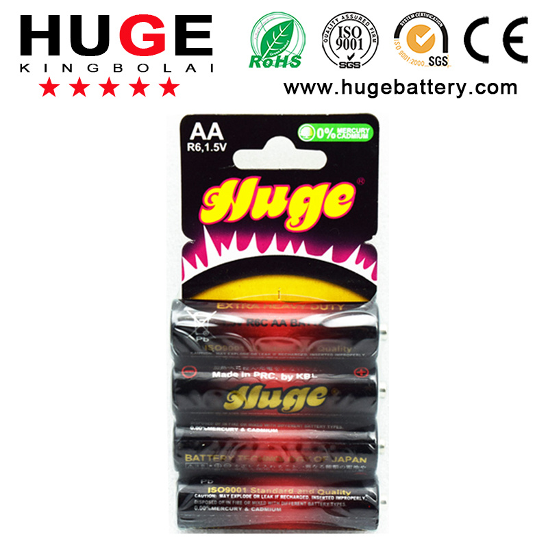 1.5V AA R6 Um-3 Carbon Zinc Battery