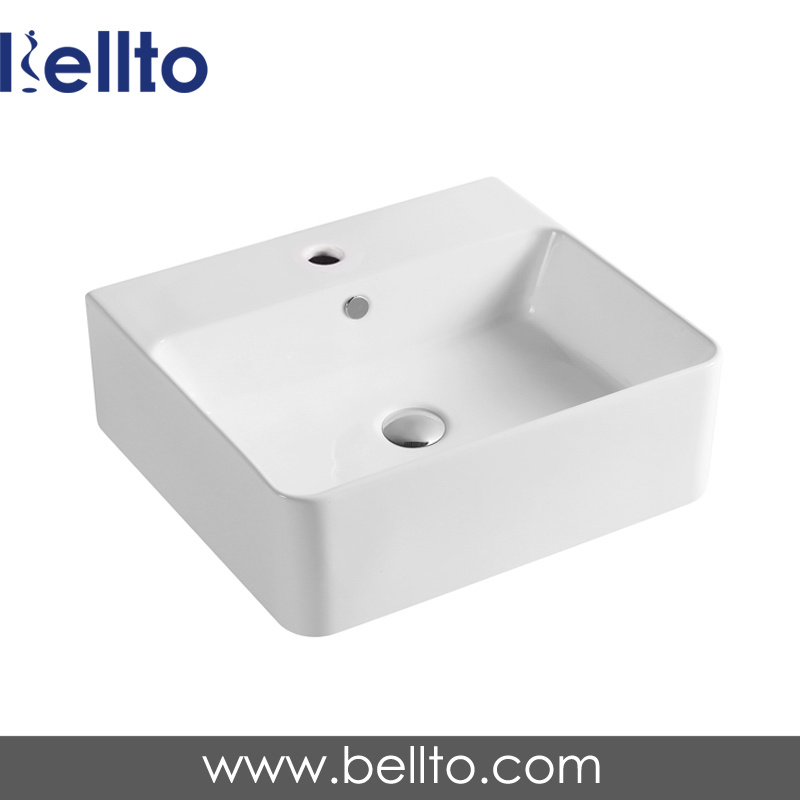 Wall hung Ceramic/Porcelain Wash Basin with Bathroom Accessories (3317C)