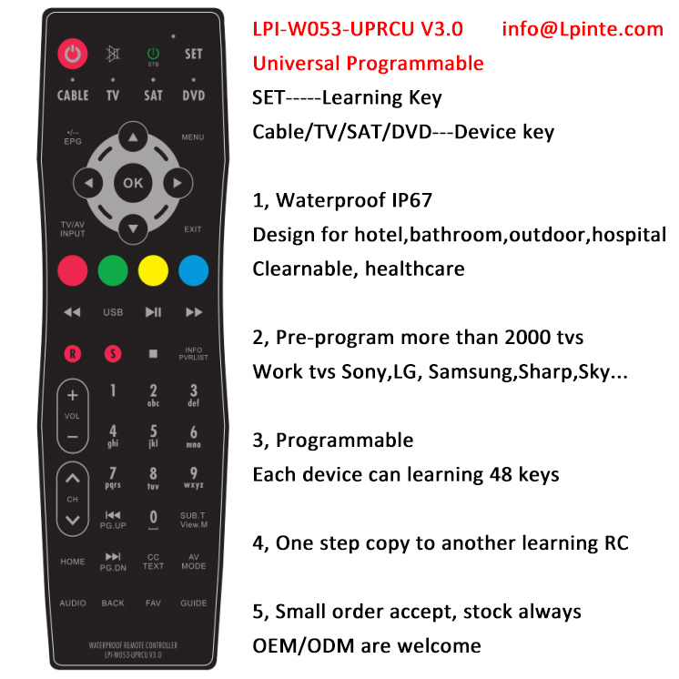 Universal Remote Control 4 in 1 Learning