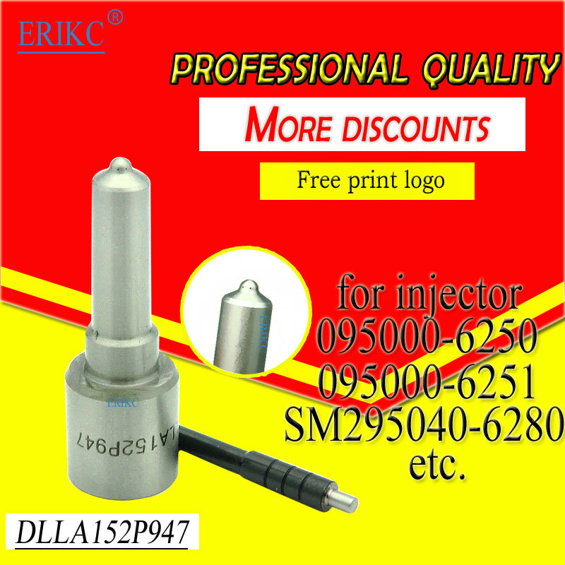 Dlla152p947 Denso Injector Nozzle Dlla 152 P 947 and Nozzle 0934009470 for 095000-6250 Diesel Engine Nissan, Toyota