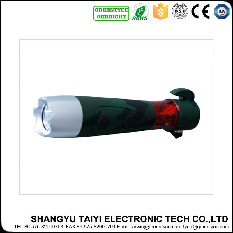 High Power LED 200lm Strobe Camping Car Emergency Torch Flashlight