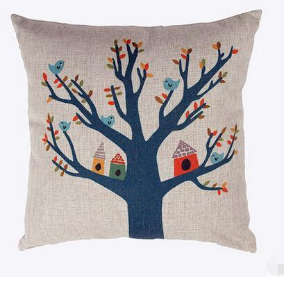 Tree Cushions Decorative Housewares Throws Zipper Closure