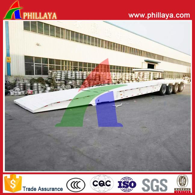 Phillaya Made 3 Axles 60tons Heavy Duty Lowbed Semi Trailer