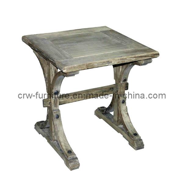 Living Room Vintage Recycled Wood Elm Side Table (AF-117)