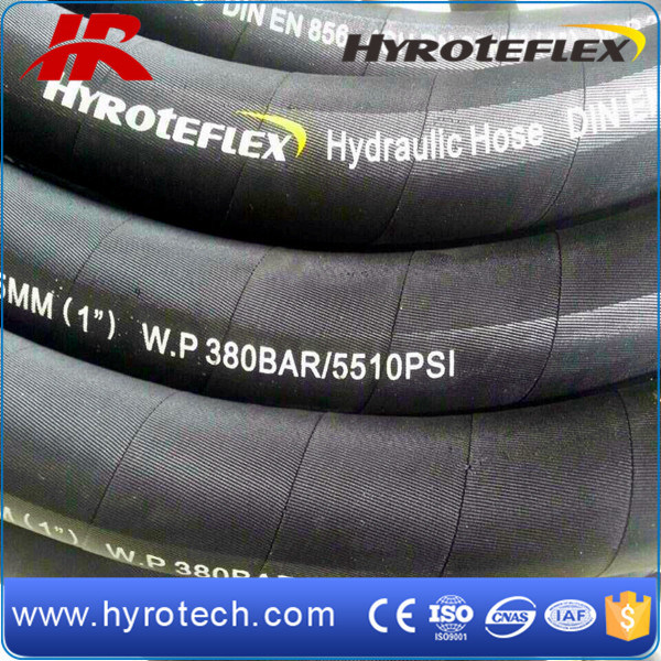 High Pressure Rubber Hydraulic Hose SAE100 R9/DIN En856 4sp
