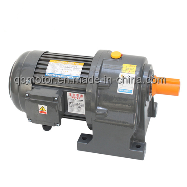 100W Shaft Dia 18mm Horizontal Mounted Gearbox Small AC Gear Motor