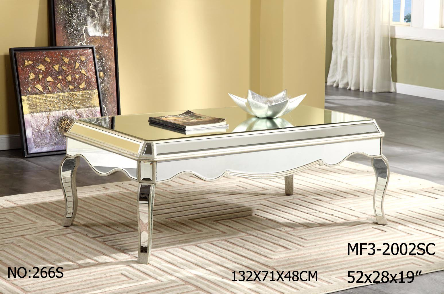 New Customized Mirrored Coffee Table for Hotel