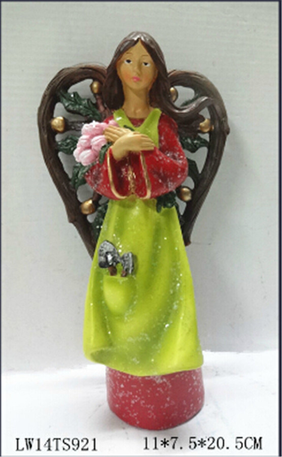 Well-Sold Resin Fairy Figurine for Christmas and Garden Decoration
