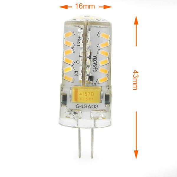 Mini G4 3W LED Corn Light 57X 3014 SMD LEDs Lamp Bulb AC/DC 12V in Warm White/Cool White Energy-Saving Lamp