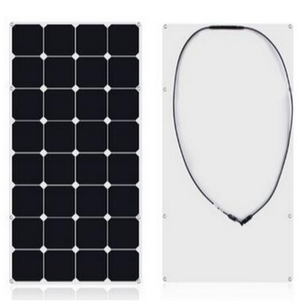 China Competitive Price High Efficiency PV Sunpower 18V 100W Semi Flexible Solar Panel