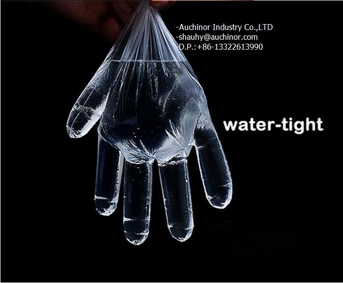Disposable PE Plastic 2PCS Folded Gloves in Pair