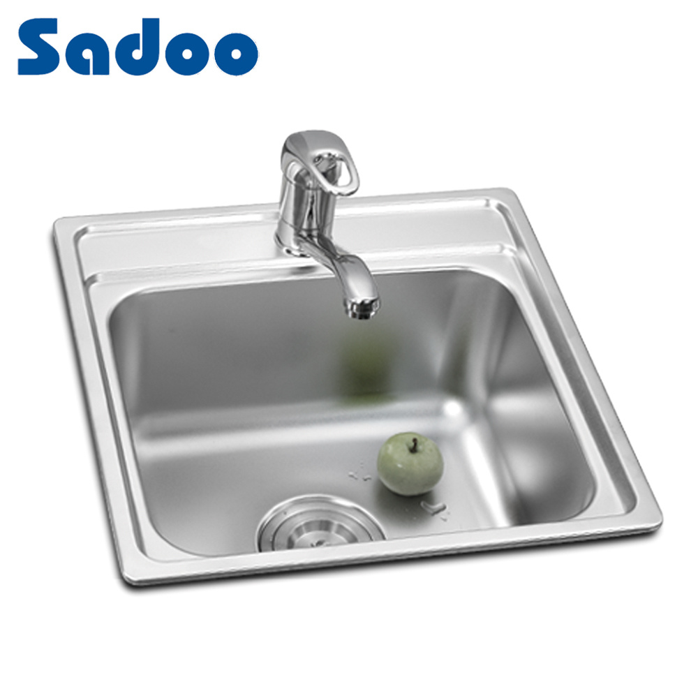 Inox Kitchen Sink : China Inox Sink, Kitchen Stainless Steel Square Single Sink SD-651 ...