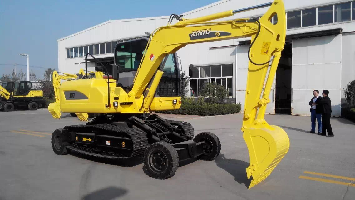 8t Crawler Excavator with Wheels