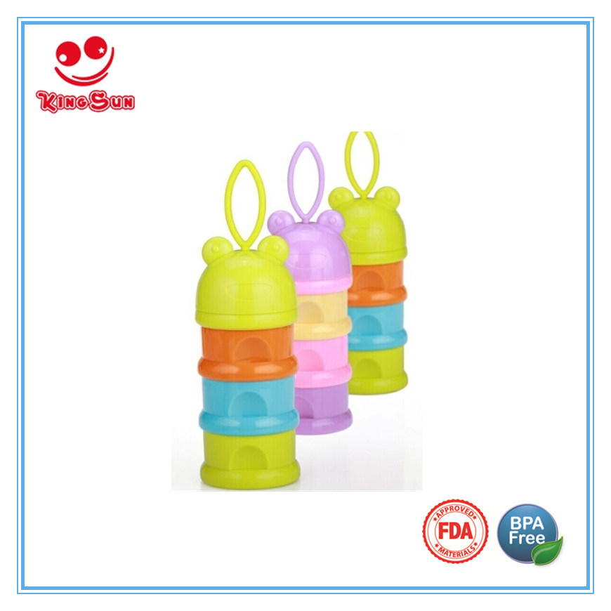 Animal Cap Milk Powder Dispenser with Silicone Rope