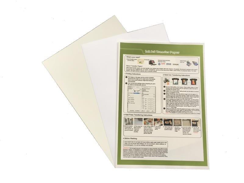 Dark Inkjet Heat Transfer Paper for DIY