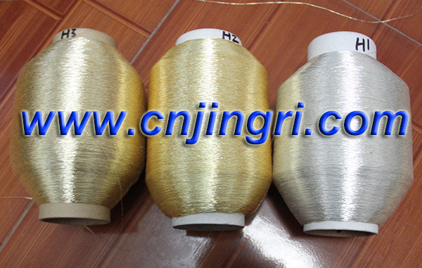 Pure Silver Metallic Yarn with Cotton Core