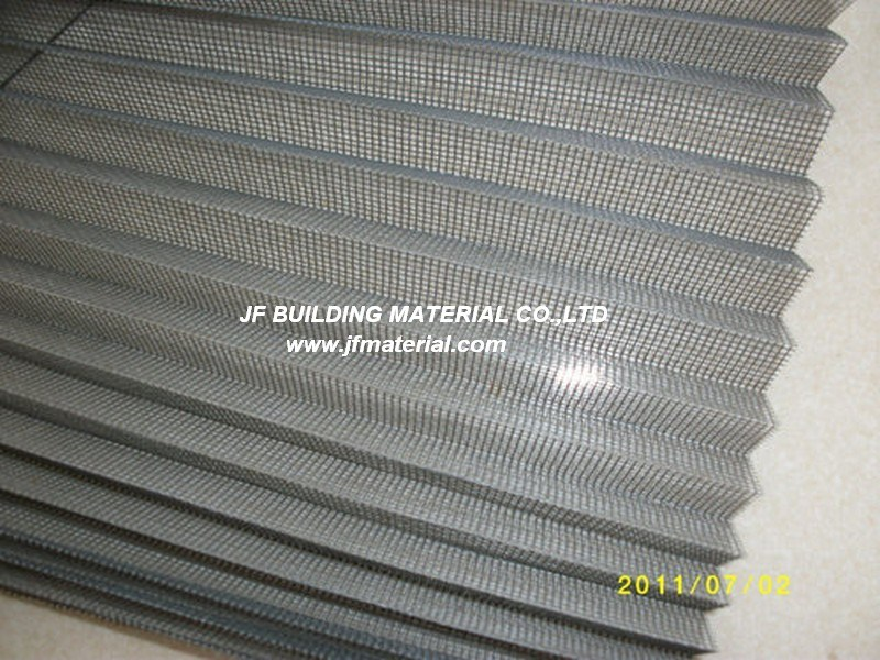 Fiberglass/ Polyester/ PP Pleated Screen Plisse Insect Screen