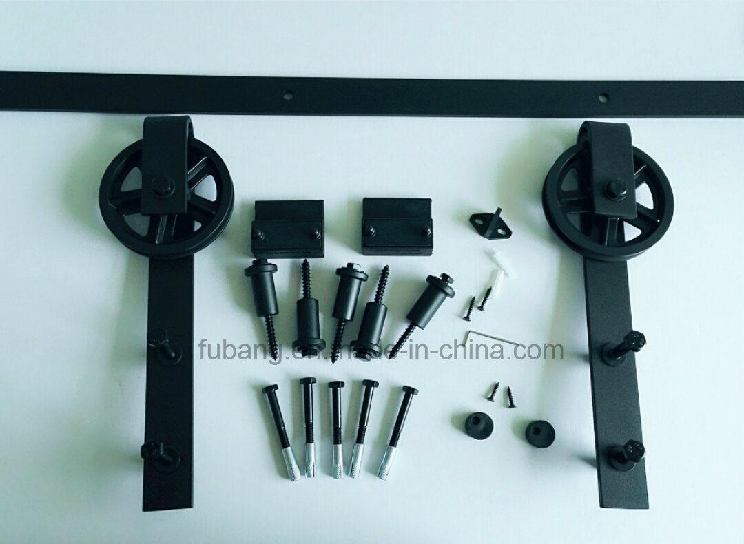 Country Style Steel Arrow Type Interior Sliding Barn Door Hardware Kit