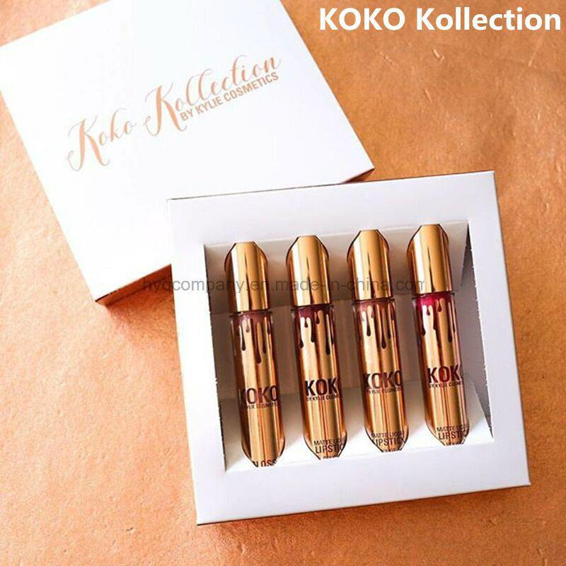 Kylie Jenner Lip Kit Lipgloss Set Koko Kollection Set Gold Metal Matte Lipstick Gloss Collection