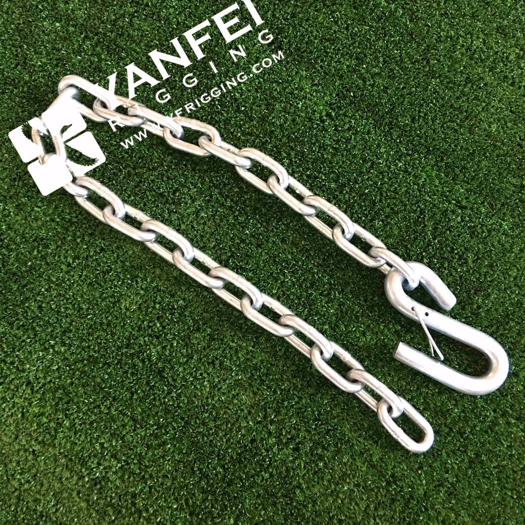 USA Standard Galvanized G30 Chain with Snap S Hooks