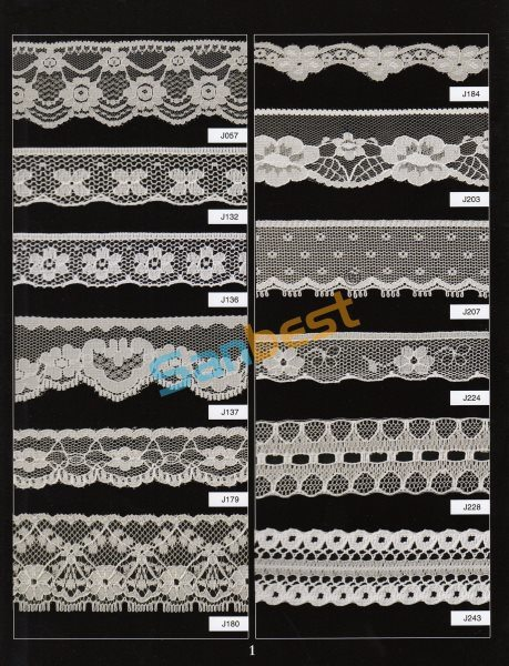 Different Designs High Quality Beautiful Nylon Lace for Clothes